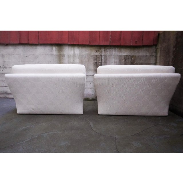 White 1970s Vladimir Kagan for Preview 2 Piece Modular Sectional Lounge Chairs - a Pair For Sale - Image 8 of 11