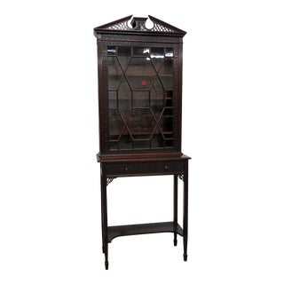 19th Century Georgian Collectors Cabinet For Sale
