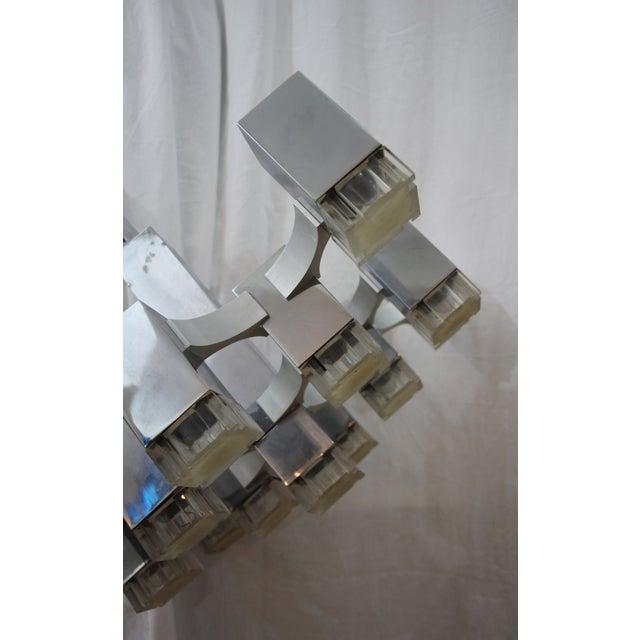 Mid-Century Cubic Chandelier by Gaetano Scioliari - Image 2 of 6