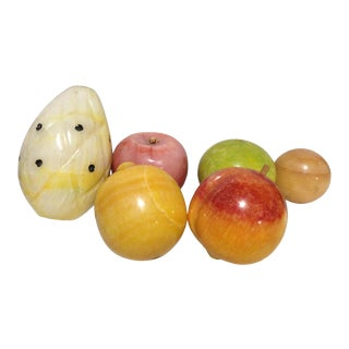 Mid 20th Century Marble Fruit - Set of 6 For Sale