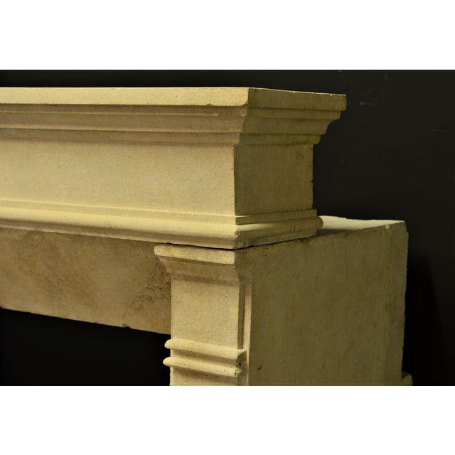 French Antique Fireplace Mantel From France For Sale - Image 3 of 9