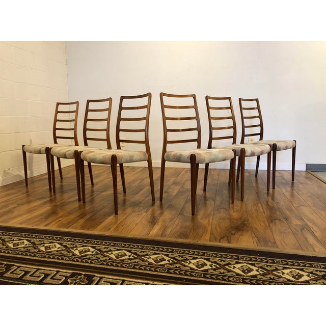 Rosewood Model 82 Dining Chairs by Niels Otto Møller for j.l. Møllers Møbelfabrik - Set of 6 For Sale - Image 13 of 13