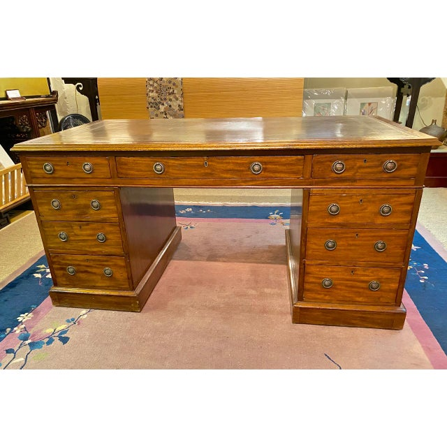 English 19th Century Pedestal Desk For Sale - Image 12 of 12