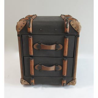 """Restoration Hardware Safari-Style """"Richard"""" Traveling Trunk, Side/End Table Preview"""