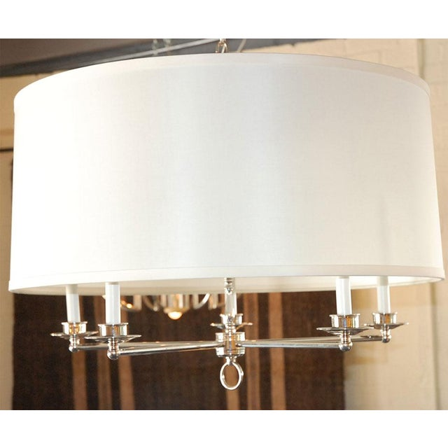 Paul Marra Design Five Arm Shaded Chandelier - Image 3 of 9