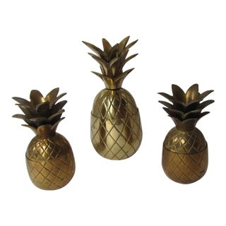 Vintage Brass Pineapples - 3 - Pieces For Sale