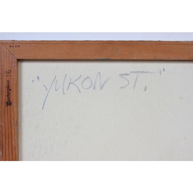 "This 2001 oil on canvas cityscape entitled ""Yukon St."" is by San Francisco painter Jack Freeman (1938-2014). Freeman..."