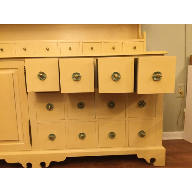"""Farmhouse Vintage Farmhouse """"Breakfront', """"Open Hutch Sideboard' For Sale - Image 3 of 13"""