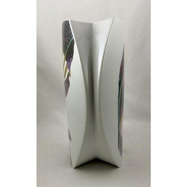 Modern Rosenthal Porcelain Brigitte Doege Calla Lily Vase For Sale - Image 3 of 10