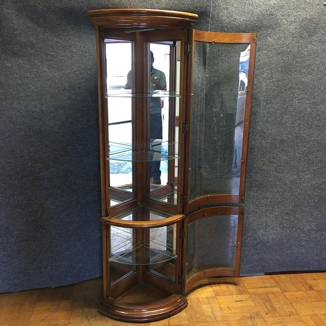 Solid Wood Corner Curio Cabinet With Glass Doors - Image 5 of 10