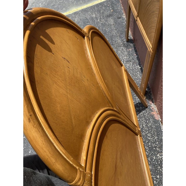 Chocolate Vintage Pencil Reed Headboards - a Pair For Sale - Image 8 of 13