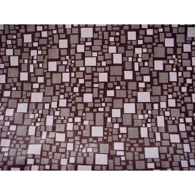 Modern Brunschwig Et Fils Br-88173 Mosaic Velvet Bark Brown Upholstery Fabric- 12 Yards For Sale