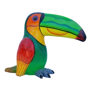 1998 Alexander Flores Paper Mache Toucan Sculpture For Sale