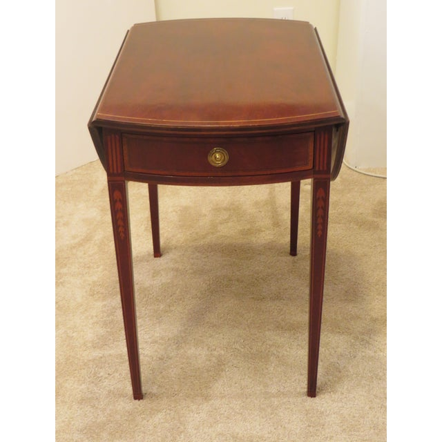Early 20th Century Antique Baker Furniture Drop Leaf Pembroke Table For Sale In Philadelphia - Image 6 of 13
