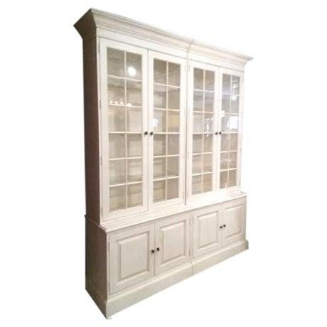 Glass Shelf White Bookcase - Image 1 of 5