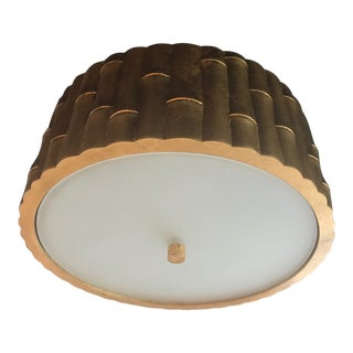 Visual Comfort Gilden Bamboo Flush Mount For Sale