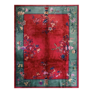 """Antique Chinese - Art Deco Rug 9'0"""" X 11'9"""" For Sale"""