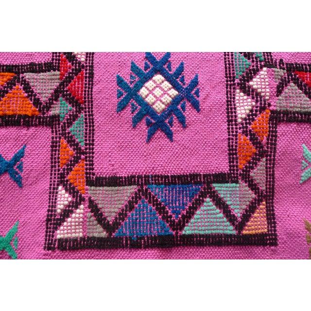 MoroccanTribal Motif Small Pink Rug - 1′6″ × 3′ - Image 3 of 8