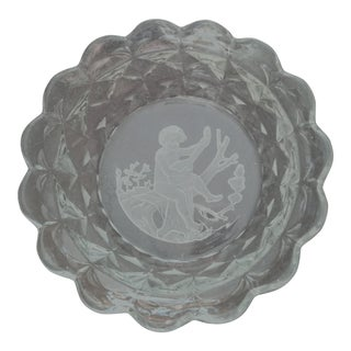 Vintage Mid-Century Italian Art Glass Bowl For Sale