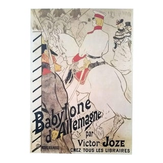 """1972 Toulouse-Lautrec """"Babylon of Germany"""" Book Plate Poster For Sale"""