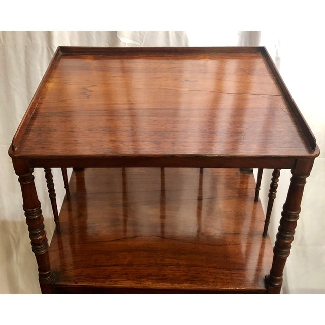 Antique English Rosewood 4 Tier Etagere, Circa 1850. For Sale - Image 4 of 6