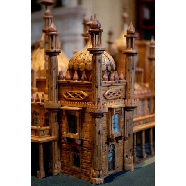 Royal Brighton Pavilion Matchstick Architectural Model by Bernard Martell For Sale - Image 9 of 13