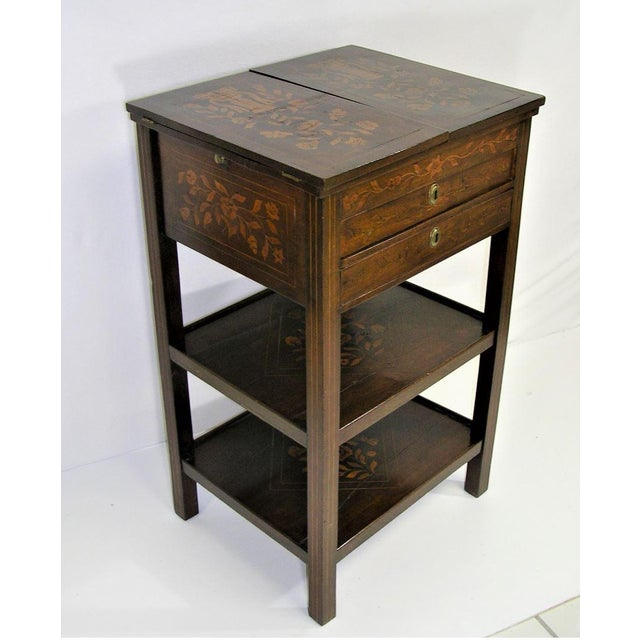 Antique Marquetry Inlaid Dressing Table For Sale - Image 4 of 13
