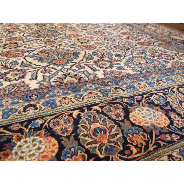 "Islamic Persian Kashan Rug 8'6"" x 11'10"" For Sale - Image 3 of 4"