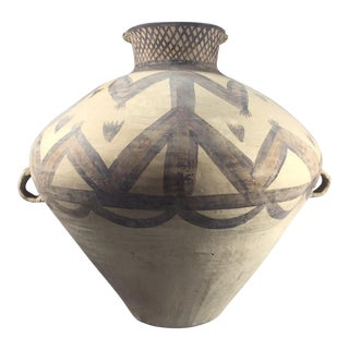 Neolithic Period Large Chinese Painted Pottery Jar For Sale