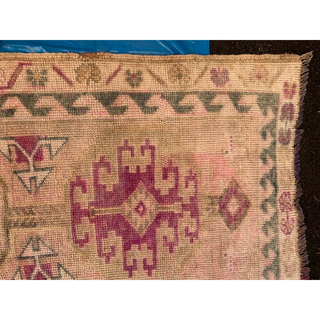 Mid 20th Century Mid 20th Century Oushak Runner- 2′8″ × 13′4″ For Sale - Image 5 of 8