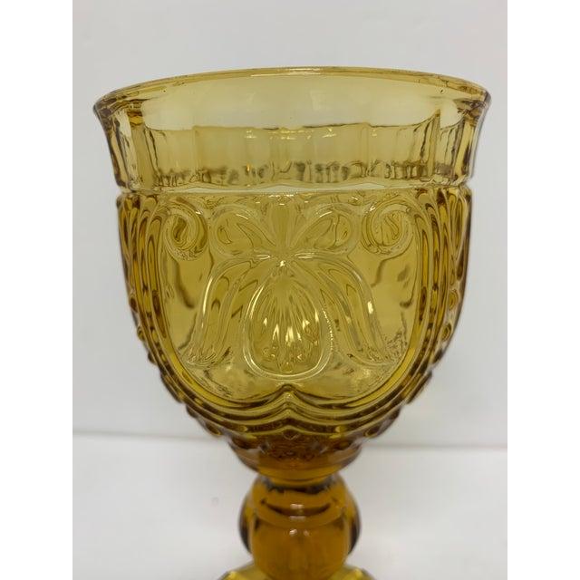 1940s Vintage 1940's Amber Glass Goblets - Set of 6 For Sale - Image 5 of 13