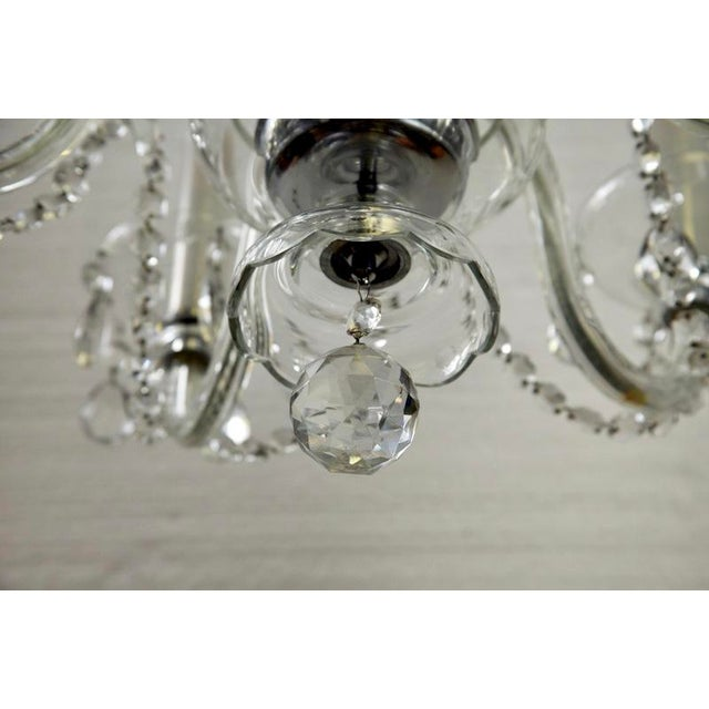 French All Crystal Five Light Chandelier with Waterfall Beading - Image 5 of 7