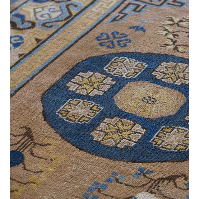 Persian Antique Handwoven Wool Persian Khotan Runner For Sale - Image 3 of 5