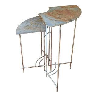 Pair of Vintage Modern Plant Metal Tables