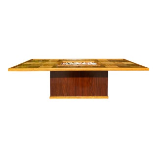 1970's Rustic Pine and Oak Coffee Table For Sale