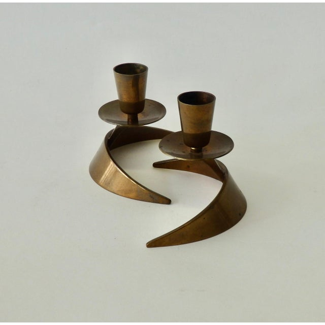Mid-Century Modern Pair of John Prip and Ronald Hayes Pearson Ma.Co. Bronze n.y. For Sale - Image 3 of 7