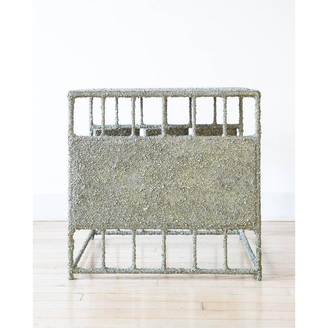 Contemporary Hand Made Side Table of Crushed Pyrite of Mexico, by Samuel Amoia For Sale - Image 3 of 7