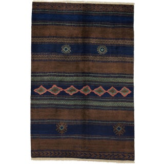 "Moroccan Hand Knotted Area Rug - 6'1"" X 9'1"" For Sale"