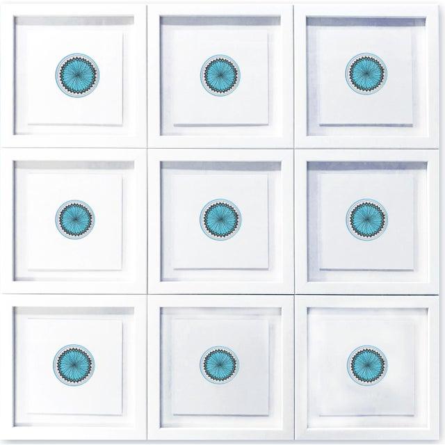 Natasha Mistry Minimalist Geometric Ink Drawings - Set of 9 For Sale In Denver - Image 6 of 9