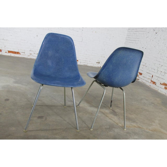 Vintage Herman Miller Eames Molded Fiberglass DSX Chairs - A Pair - Image 4 of 11