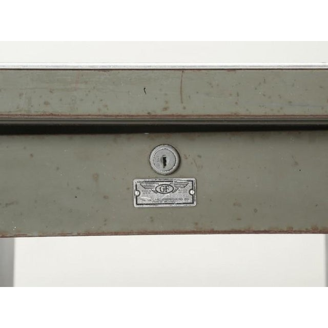 Steel American Industrial Desk in Original Condition For Sale - Image 10 of 12