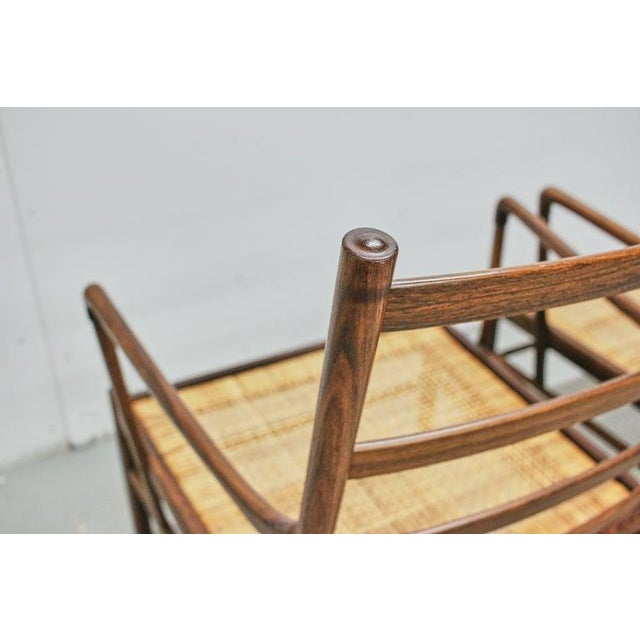 Rosewood Ole Wanscher Colonial Chairs, P. Jeppesens Møbelfabrik, Denmark, 1960s For Sale - Image 10 of 13