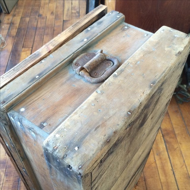 Rustic Pine Wood Sea Chest - Image 6 of 11