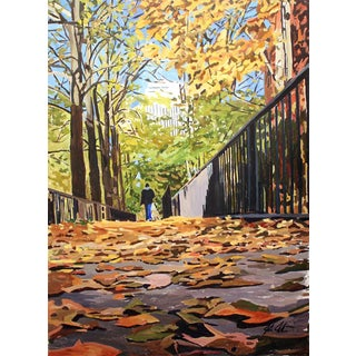 Fallen Leaves in Lincoln Park Print For Sale