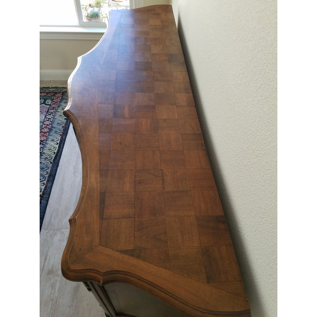 Brown Antique French Walnut Enfilade 3-Door Sideboard For Sale - Image 8 of 11