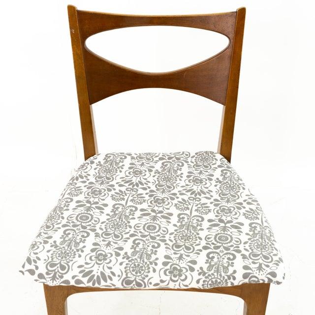 John Van Koert for Drexel Profile Mid Century Walnut Dining Chairs - Set of 4 For Sale - Image 10 of 13