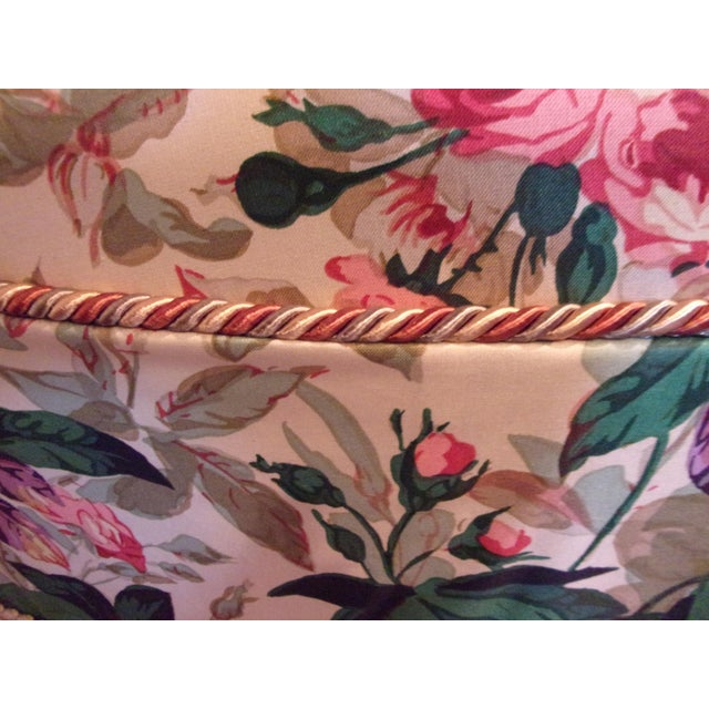 1970s 1970s Custom Upholstered Skirted Coffee Ottoman For Sale - Image 5 of 8