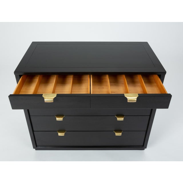 Metal Ebonized Chest of Drawers From Edward Wormley's Precedent Collection for Drexel For Sale - Image 7 of 13