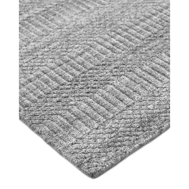 Color: Gray. Made in: India. Subtle tone-on-tone stripes give the Solid collection a depth and sophistication all its own....