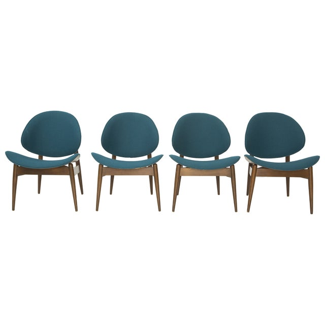 Kodawood Bentwood Clam Teal Chairs - Set of 4 - Image 1 of 10
